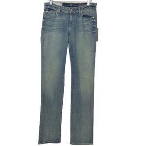NWT 7FAM Classic Straight Leg Stretch Jeans